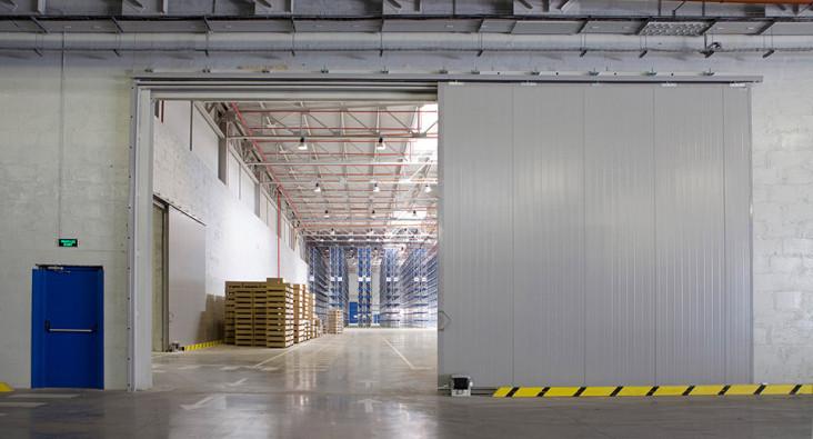 откатные ворота с автоматикой кейм для склада