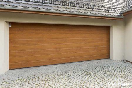 Ворота Hormann Renomatic 5000х2250 золотой дуб